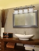 Justice Design (WGL-8564) Arcadia 4-Light Bath Bar from the Wire Glass Collection