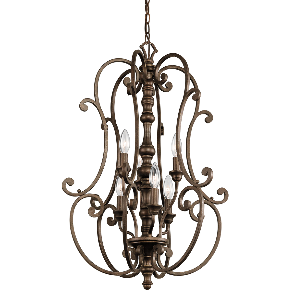 Kichler Lighting 43282trz Mithras 6 Light Foyer Cage