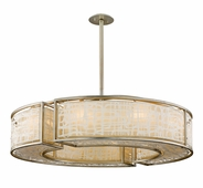Corbett Lighting (131-410) Kyoto 10 Light Extra Large Pendant shown in Silver Leaf Finish