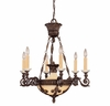 Savoy House Lighting (1-3410-6-56) Corsica 6 Light Chandelier in New Tortoise Shell Finish, Designed by Federico Martinez