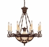 Savoy House Lighting (1-3411-8-56) Corsica 8 Light Chandelier in New Tortoise Shell Finish, Designed by Federico Martinez