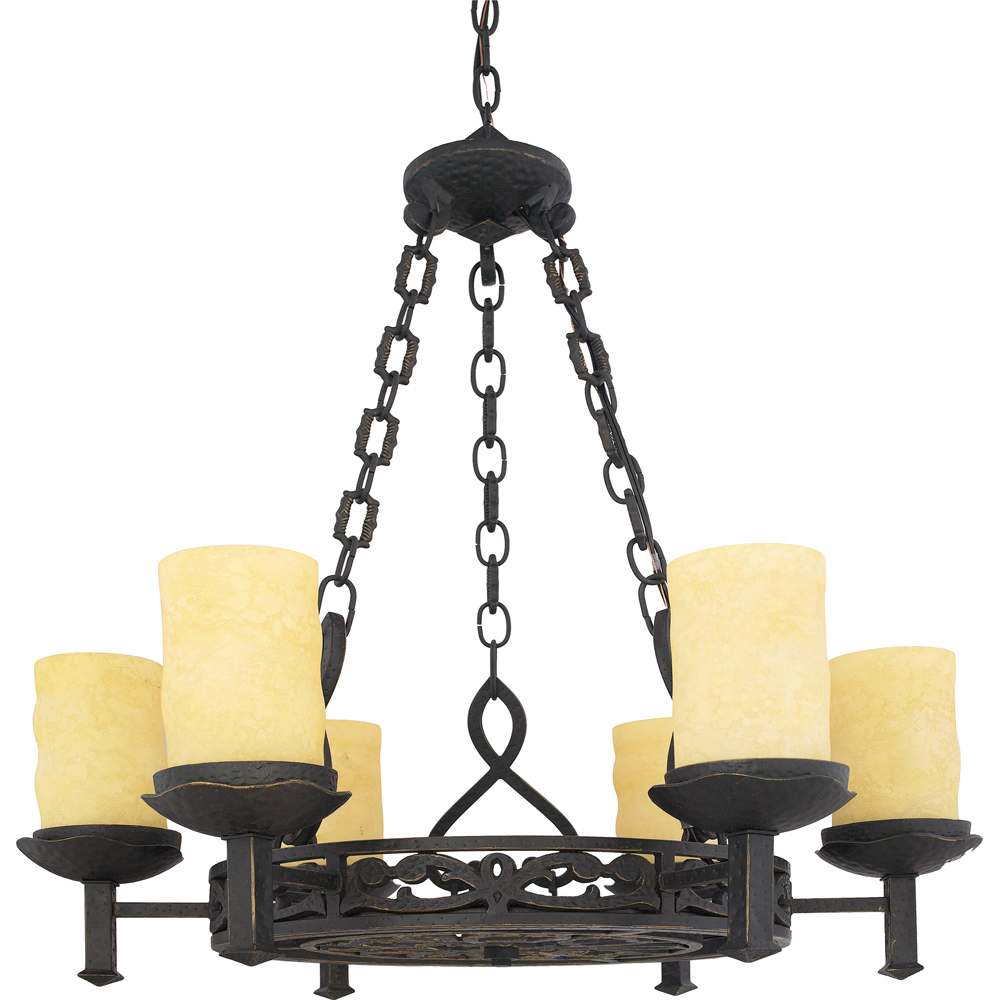 La Parra- European Style La Parra Chandelier In Imperial Bronze Finish From Quoizel Lighting- LP5006IB