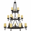 La Parra- European Style La Parra Chandelier In Imperial Bronze Finish From Quoizel Lighting- LP5018IB