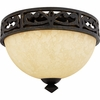 La Parra- European Style La Parra Flush Mount In Imperial Bronze Finish From Quoizel Lighting- LP1614IB