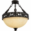 La Parra- European Style La Parra Semi-Flush Mount In Imperial Bronze Finish From Quoizel Lighting- LP1717IB