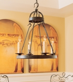 2nd Avenue Lighting (01.0750.24) Lakeshore Signle Tier Chandelier shown in Antique Iron Gate Finish