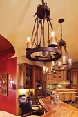 2nd Avenue Lighting (01.0750.18.DL) Lakeshore Signle Tier Chandelier with Downlight shown in Cajun Spice Finish