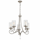 Lara Chandelier 5 Light shown in Classic Pewter by Kichler Lighting