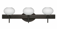 Lasso 3 Light Wall Sconce Vanity shown in Bronze with Opal Matte Glass Shade by Besa Lighting