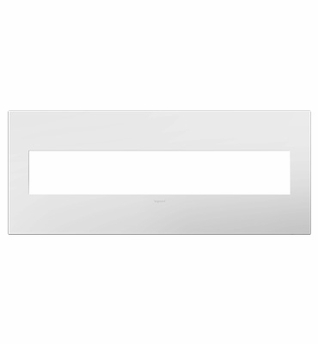 Legrand (AWP6GWHW1) adorne Gloss White on White, 6-Gang Wall Plate