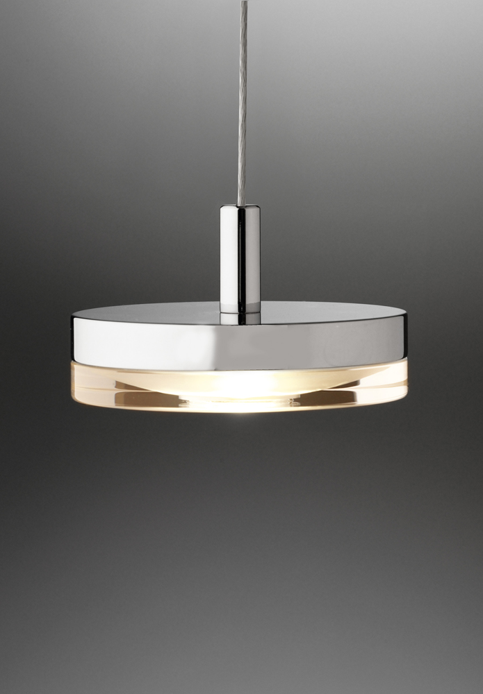 Lichtstar System LED Low Voltage Pendant Acrylic Disc Shown In Chrome By Holt
