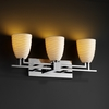 Justice Design (POR-8703) Aero 3-Light Bath Bar from the Limoges Collection