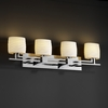 Justice Design (POR-8704) Aero 4-Light Bath Bar from the Limoges Collection
