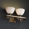 Justice Design (POR-8562) Arcadia 2-Light Bath Bar from the Limoges Collection