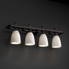 Justice Design (POR-8564) Arcadia 4-Light Bath Bar from the Limoges Collection