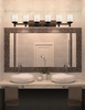 Justice Design (POR-8536) Deco 6-Light Bath Bar from the Limoges Collection