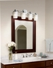 Justice Design (POR-8514) Rondo 4-Light Bath Bar from the Limoges Collection