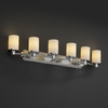 Justice Design (POR-8516) Rondo 6-Light Bath Bar from the Limoges Collection