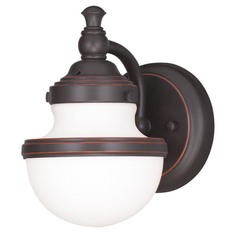 Livex Lighting 5711 Oldwick 1 Light Bathroom Vanity Fixture Wall Sconce Sho