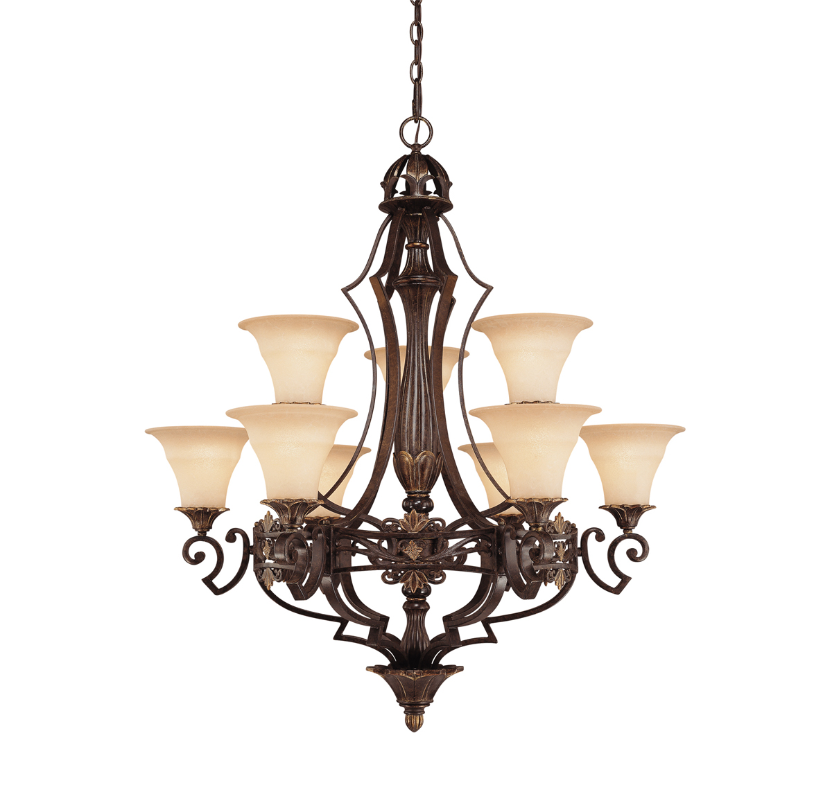 Savoy House Lighting (1-0151-9-76) Southerby 9 Light Chandelier in Florencian Bronze Finish