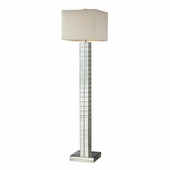 Luella Mirror Floor Lamp shown in Clear Finish by Dimond Lighting