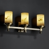 Justice Design (FAL-8533) Deco 3-Light Bath Bar from the LumenAria Collection