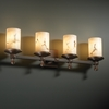 Justice Design (FAL-8534) Deco 4-Light Bath Bar from the LumenAria Collection