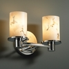 Justice Design (FAL-8512) Rondo 2-Light Bath Bar from the LumenAria Collection
