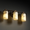 Justice Design (FAL-8513) Rondo 3-Light Bath Bar from the LumenAria Collection