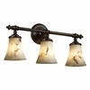 Justice Design (FAL-8523) Tradition 3-Light Bath Bar from the LumenAria Collection