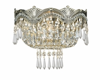 Majestic Collection 2 Light Sconces with Hand Polished Crystals shown in Historic Brass by Crystorama Lighting