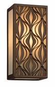 Mambo Interior 1 Light Wall Lantern Wall Mount shown in Mambo Bronze by Corbett Lighting