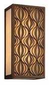Mambo Interior 2 Light Wall Lantern Wall Mount shown in Mambo Bronze by Corbett Lighting