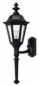 Hinkley Lighting (1410BK) Manor House Medium Outdoor Wall Sconce in Black with Clear Beveled Panels