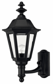 Hinkley Lighting (1419BK) Manor House Small Outdoor Wall Sconce in Black with Clear Beveled Panels