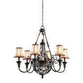 Marchesa Chandelier 6 Light shown in Terrene Bronze by Kichler Lighting
