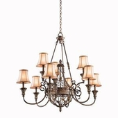 Marchesa Chandelier 9 Light shown in Terrene Bronze by Kichler Lighting