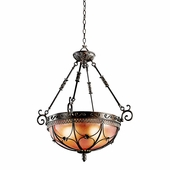 Marchesa Inverted Pendant 3 Light shown in Terrene Bronze by Kichler Lighting