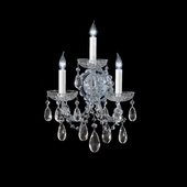Maria Theresa Collection 3 Light Sconces with Hand Polished Crystals shown in Polished Chrome by Crystorama Lighting