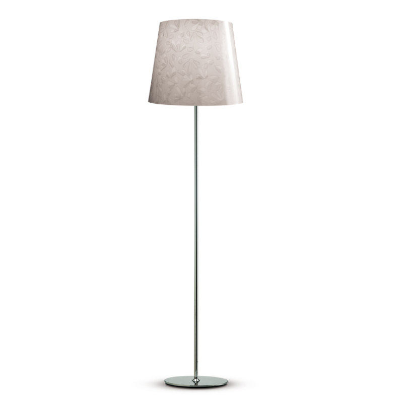 marie fleur floor lamp in stainless steel made in manufactured in. Black Bedroom Furniture Sets. Home Design Ideas