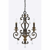 Quoizel Lighting (MQ5003HL) Marquette 3-Light Mini Chandelier in Heirloom