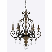 Quoizel Lighting (MQ5006HL) Marquette 6-Light Chandelier in Heirloom