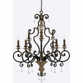 Quoizel Lighting (MQ5009HL) Marquette 9-Light Foyer Piece in Heirloom
