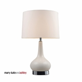 Mary Kate & Ashley Continuum Ceramic Table Lamp shown in White & Chrome by Dimond Lighting