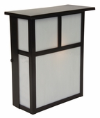 Exteriors by Craftmade (Z1840-7) Mission 1 Light Pocket Wall Mount in Burnished Copper & Frosted Glass