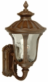 Exteriors by Craftmade (Z3510-98) Sheffield 1 Light Medium Wall Mount in Aged Bronze & Clear Hammered Glass
