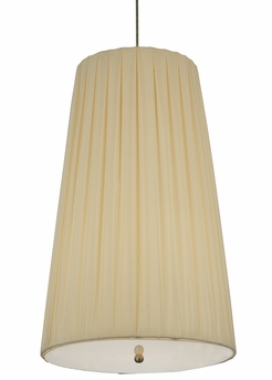 """Meyda Tiffany (119125) 15""""W Channell Tapered & Pleated Pendant"""
