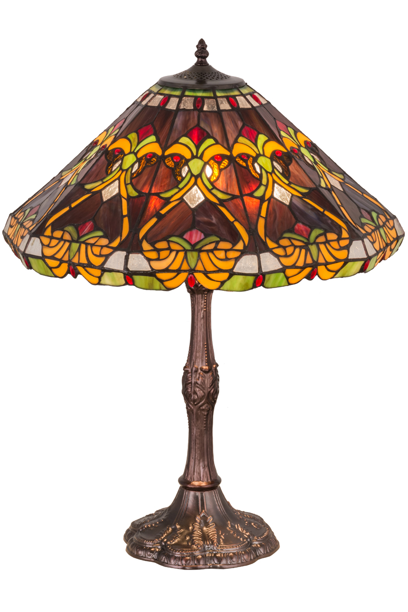 Casa cortes lush mosaic art glass 25 inch table lamps set of 2 - Table Lamps By Height