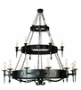 Meyda Tiffany (110046) 72 Inch Width Warwick 21 Light Three Tier Chandelier
