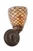 "Meyda Tiffany (110224) 5.5""W Tiffany Fishscale Wall Sconce"
